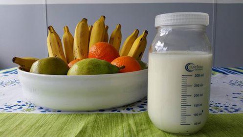 frutas e leite materno