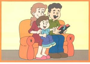 familia lendo a bilbia